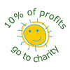 10% to Charity