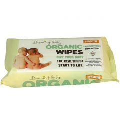 Uses 100% bio-degradable cloth Certified Organic Baby Wipes (72 wipes) Buy 11 and get one pack FREE!