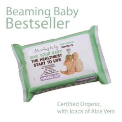 Organic Baby Wipes Unscented 11 x 72 Beaming Baby