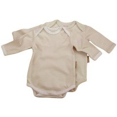 Made from the softest 100% organic cotton. Beaming Baby Chemical-Free Long Sleeve Envelope Neck Bodysuit - 2 pack