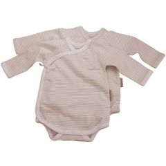 Made from the softest 100% organic cotton. Beaming Baby Organic Cotton Long-Sleeved Wrap-Style Bodysuits Chemcial Free Twin pack
