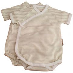 Made from the softest 100% organic cotton. Beaming Baby Organic Cotton, Short-Sleeved Wrap-Style Bodysuits, Chemical Free, Twin pack