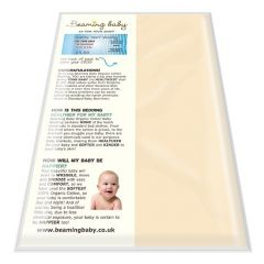 100% Organic Cotton Beaming Baby Fitted Moses Basket Sheet Chemical-Free! (fits up to 35cm x 76cm)
