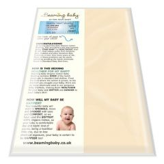 100% Organic Cotton, Chemical-free Beaming Baby Fitted Cot Bed Sheet (fits up to 70cm x 140cm)