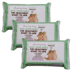 100% bio-degradable cloth - Fragrance Free Organic Baby Wipes Triple Pack - Save 3% (216 wipes)
