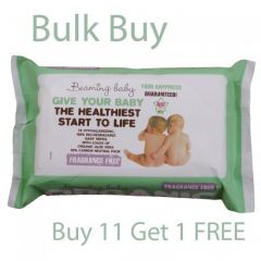 100% Bio-Degradable Wipes Beaming Baby Certified Organic Baby Wipes, Buy 11 Get One FREE!