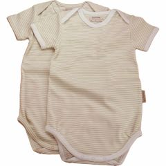 Made from the softest 100% organic cotton. Beaming Baby Organic Cotton, Short-Sleeved Envelope Neck Bodysuit, Chemical Free, Twin pack